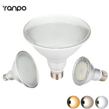 E27 LED Spotlight Bulb 2835 SMD PAR20 PAR30 PAR38 14W 24W 30W AC 85-265V Lamp Bright Corn Light High Power 110V 220V Lamprada(China)