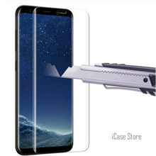 S8 Glass 3D Curved Full Cover Coverage Tempered Glass Screen Protector For Samsung Galaxy S8 S8 Plus S7 edge Protective film(China)