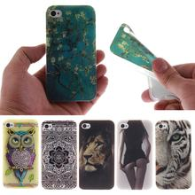 For Coque iPhone 4 4s Case Silicone Cartoon Fundas iPhone 4s Case Silicone Cute Owl Lion Tiger Animals Flower Anime Phone Case(China)