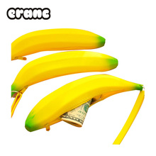 Coin Purse Pencil Case Portable Novelty Cute Banana Silicone Pen Bag Wallet pouch