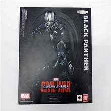 SHFiguarts Captain America Civil War Black Panther / Ant Man PVC Action Figure Collectible Model Toy