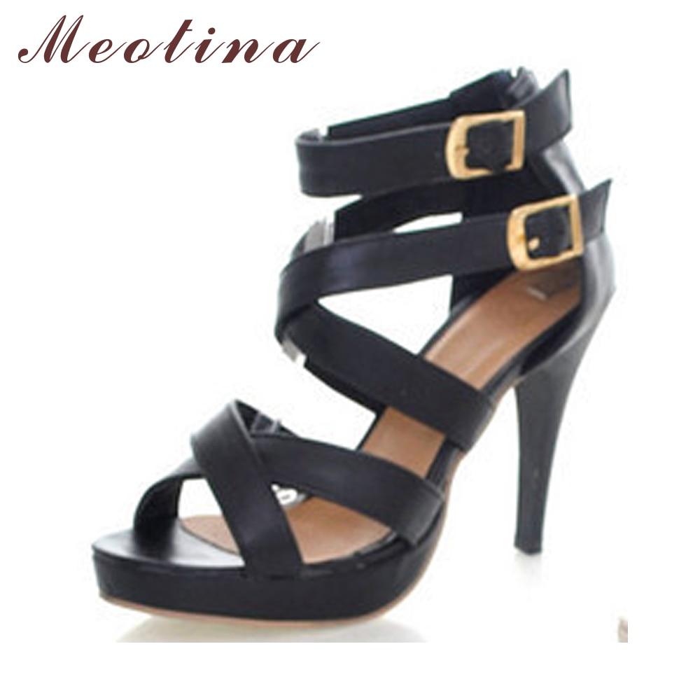 Meotina Gladiator Sandals High Heel Sandals for Women Platform High Heel Gladiator Pumps Women Beige Buckle Heels Shoes Cheap <br><br>Aliexpress