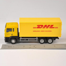 1:64 Scale Model Car Diecast Truck Express DHL Truck Model Yellow Container Transporter Kids Toys for children Collection Gift(China)