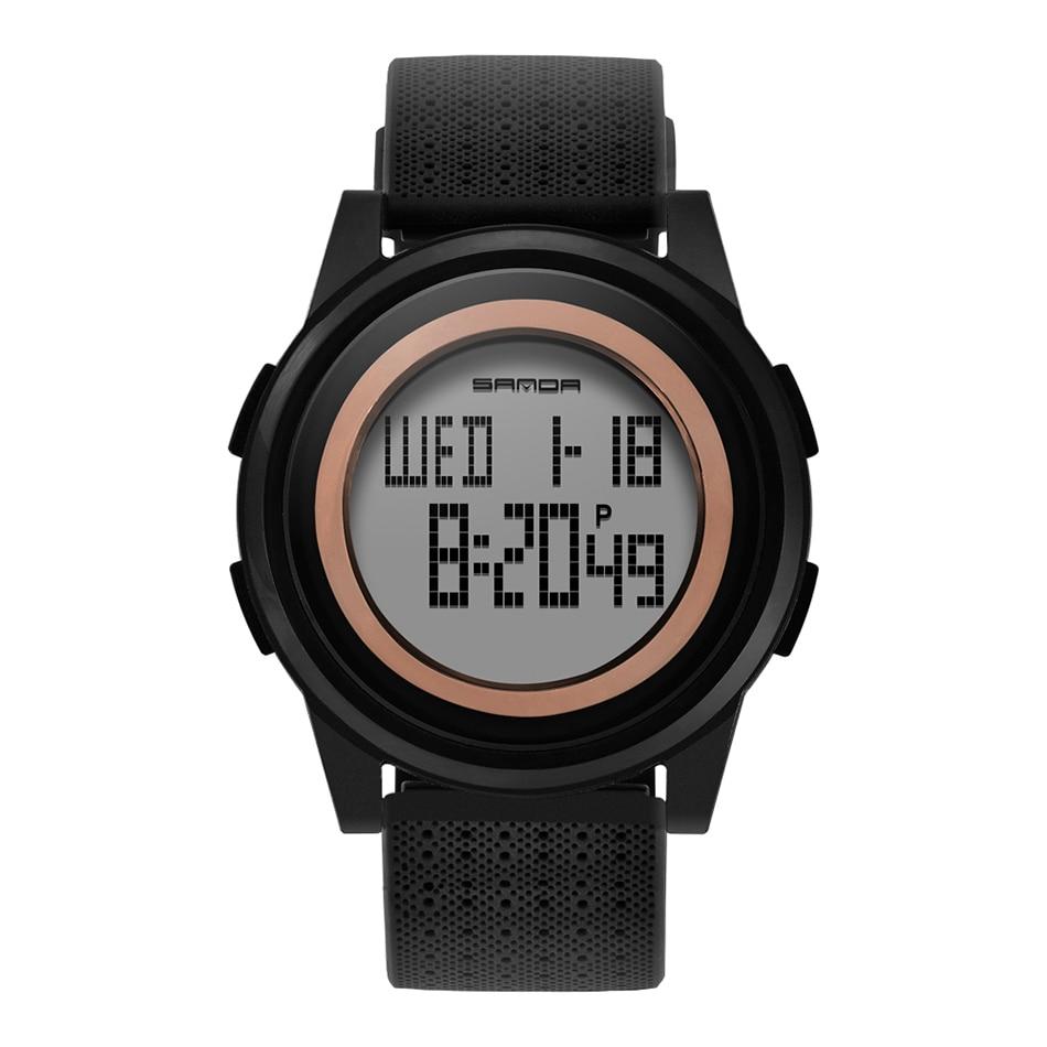 SANDA Fashion Women Sports Watches Waterproof 30m Ladies Ultra Thin LED Digital Watch Swimming Diving Hand Clock Montre Femme 27