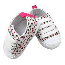 2017 Toddler Kids Casual Lace-Up Sneaker Soft Soled Baby Crib Shoes First Walkers 0-18M Hot Selling(China)