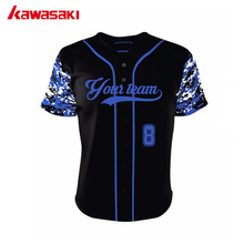2017 New Kawasaki Custom Kids Camo Baseball Shirt Top Sublimation Breathable Fans Men&Women Sports Softball Jersey