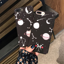 Fashional Cartoon Starry Sky Bear for Coque iPhone 6 Case Hard PC Matte Back Covers for iPhone 6S 7 Plus Phone Cases Funda Capa