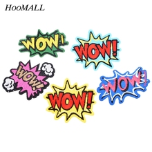 Hoomall 5PCs/Set Mixed Letter Patches For Kids Clothing Iron on Embroidered Sewing Applique Stickers Clothes Supplies Wholesale(China)