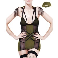 Vestidos 2017 hot sexy military dress women 3pcs fever army major costume summer backless clubwear dresses mini short SA8910