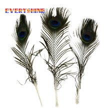 peacock feathers 25-30 cm 10-12 inches Jewelry accessorie peacock  feathers wedding decoration jewelry making IF20
