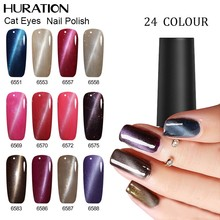 Huration Semi Permanent Magnetic New Starry Sky Product Fashion Soak Off 7ml Colorful Cat Eye Nail Gel Polish(China)