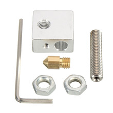 NEW 3D Printer Extruder Accessories Parts Tools Nozzle Print Head+ Nozzle Throat + Heater Block for Makerbot(China)