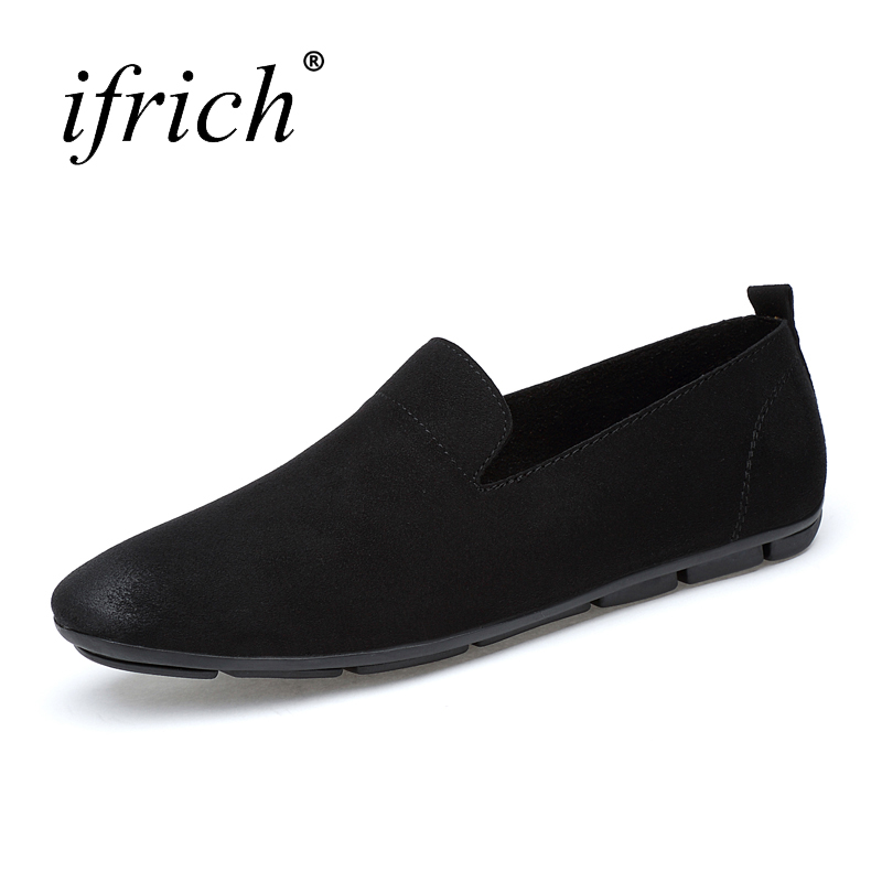 Big Size Leather Casual Shoes Men Brown Black Platform Shoes Slip on Mens Fashion Spring Summer Footwear<br>