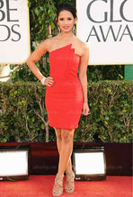 85th Annual Academy Awards Strapless Flame Red Sheath Short Cocktail Celebrity Dress