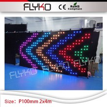 Stage Special Effects Light display 2x4m P10cm led curtain indoor PC controller