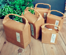 S size 10*5*9cm Kraft paper bag/ stand paper gift bags/food paper bags/Cookies Walnut dry fruit stand box 100piece\lot