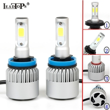 LEADTOPS H11 LED 9004/HB1 H4/9003/HB2 Car Headlight Bulb H3 H7 H1 LED 9005 Beam 72W 8000LM Auto Hi/Lo Car External Lights 12v CH
