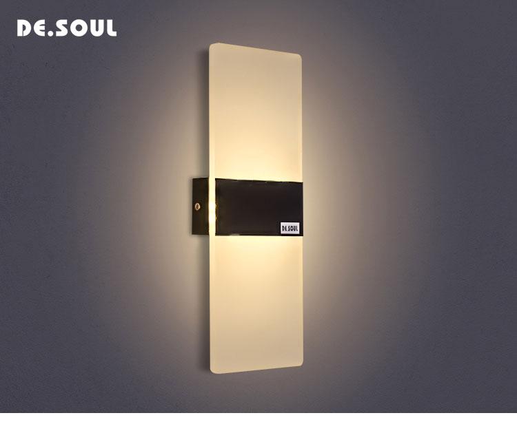 Acheter de soul appliques led acrylique mur lampe ac v monté