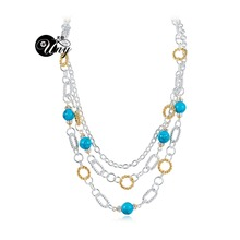 UNY designer Necklaces Fashion Inspired Rhinestone Classic Necklace Elegant Vintage Necklaces Cable Wire Necklace Trendy Jewelry(China)