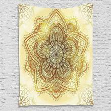 Polyester Mandala Tapestry Wall Hanging Yoga Mat Blanket Flower Home Wall Decor Bohemia Beach Mat Picnic Cloth