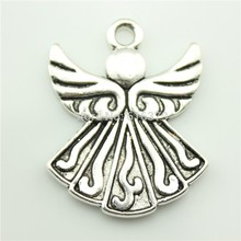 Buy free 10pcs 40*32mm antique silver double side guardian angel pendant charms jewelry findings for $7.49 in AliExpress store