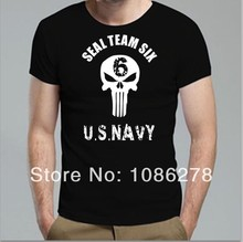 2017 New Men USA Navy team six Funny T shirts the Punisher No Sweat Skull Logo  Seal Team Shirts Custom Letter Printing T Shirts
