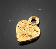 350pcs Antique Gold Peach Heart Charms Pendant - DIY Jewelry Findings Earrings Necklace Braclet Accessories 12.2mm X 9.6mm