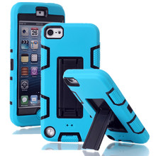 For Apple iPod Touch 5 Case Cover 3 in 1 Color Armor Heavy Duty Case Stand Protective Back Phone Cases For Apple iPod Touch 5(China)