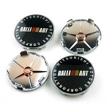 4pcs 65mm Car Styling Accessories Emblem Badge Wheel Hub Caps Centre Cover Motorsport RALLIART for MITSUBISHI LANCER PAJERO