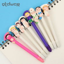 2PCS Student Prizes Creative Promotional Pens Polymer Caly Doctor Nurse Ballpoint Pen Cute Ball Point Pens School Supplies(China)