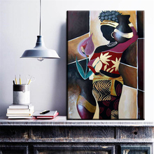ZZ695 modern decorative canvas art abstract african women canvas oil art painting wall pictures for livingroom bedroom decor art(China)