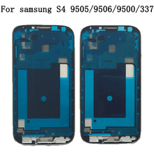Front housing Frame Cover Bezel Panel Repair Part Faceplate new for Samsung Galaxy S4 i9500 i9505 i9506 i337 m919 +free shipping(China)