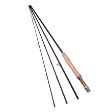 9ft/2.7M 4 Sections 5/6 Carbon Fly Fishing Rod 115g/4oz Saltwater/Freshwater Fly Rod with A-grade Cork Wood Handle(China)