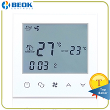 Beok TDS21-AC Central Air Conditioning Thermostat Programming Fan Coil Temperature Controller 2 pipe Smart FCU Thermoregulator(China)