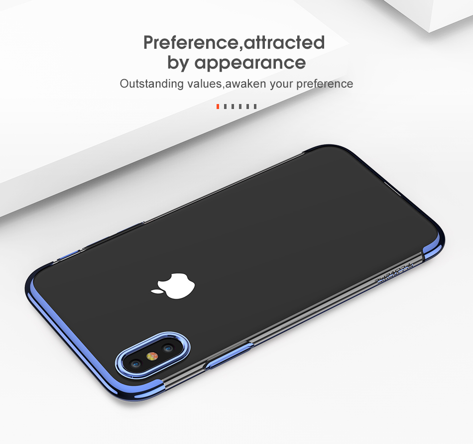 FLOVEME Luxury Plated TPU Case For iPhone X 10 Transparent Ultra Thin Silicone Cover For iPhone 7 6 6S Plus Phone Accessories 4