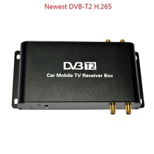 H.265 DVB-T2 4 Antenna 4 Mobility Chip 180-200km/h H.265 DVB T2 TV receiver HD 1080P TV Tuner BOX H265 Germany Italy Europe