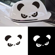 Car-styling Stickers Panda Rearview Mirror Reversing Mirror Cartoon Car Sticker Vinyl Laptop Graphics Window Decal Decor Scratch