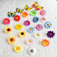 50PCS 4CM The simulation flower 20 Colors Mini Sunflower Artificial Silk Flower Heads Wedding Party Decor DIY Craft Supplies