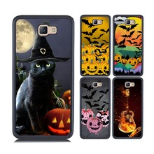 for samsung j7 prime cover wizard hat cat halloween pumpkin guitar owl chinese dragon painting soft tpu+hard pc back cover(China)