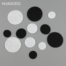 HUADODO White Black Round Felt Fabric Pads Eco-friendly Patches Circle Felt Pad for Fabric Flower Accessories DIY Scrapbook