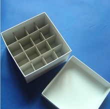 laboratory Paper text tube box for 50ml cryopreservation tubes with connection cover,tube rack,16 holes(China)