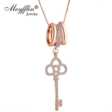 Meyfflin Key Lock Collier Femme Maxi Necklace Female Fashion Long Statement Necklaces & Pendants for Women Jewelry Collar Bijoux(China)