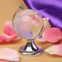 free shipping 80pcs Glass Plastic Transparent World Globe Crystal Glass Clear Desk Decor Wedding Favor Tellurion Ornaments Gifts(China)