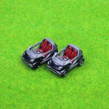 2PCS Model Cars Smart  1:100 TT HO Scale for Building Railway Train Scenery NEW C8715  railway modeling