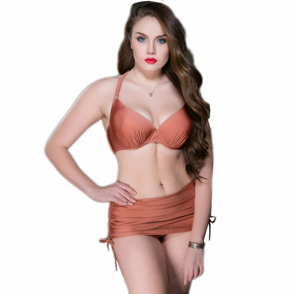 2017 Sexy Womens Sexy Bikini Set Color Gradient Swimwear push up summer beachwear Plus size biquinis two piece suit Swim<br>