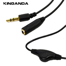 3.5mm Jack AUX Male 3.5 mm Female Adapter Extension Cable M/F Audio Stereo Cord Volume Control Earphone Headphone Wire