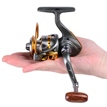 Mini Metal Spinning Fishing Reel DK150 5.2:1 12+1 Ball Bearings Left and Right Handle Exchangeable Ice Pesca Reels(China)