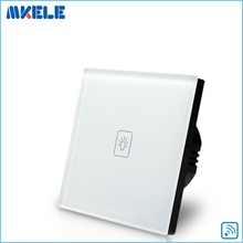 New Arrivals 1 Gang 1way Remote Touch Wall Switch EU Standard Control Light Code Grabber China