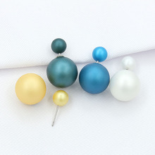Solid Color Double Sided Scrub Ball Stud Earrings for Women Girls Trendy Piecing Jewelry Lots of Colors Selectable