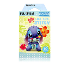 Genuine Fujifilm Instax Mini Lilo and Stitch 10 Shots  Mini 8 Film Photo  For Instant 70 25 50s Neo Classic 90 Camera SP-1 SP-2